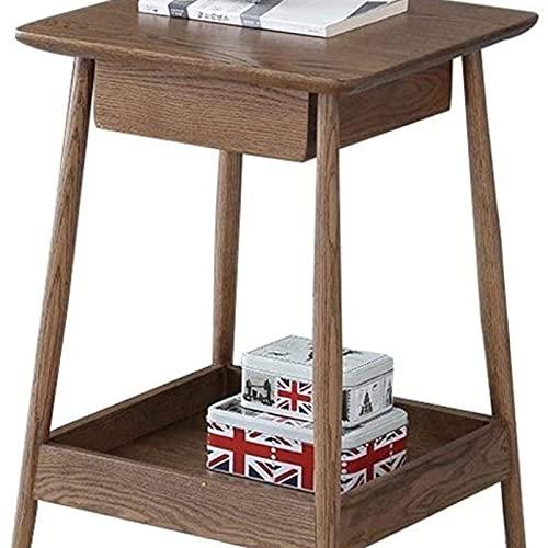 Tavolino da divano, Tavolini da caffè mobili interni walnut colore tavolino da tavolo soggiorno retrò tavolino da letto camera da letto semplice armadio da comodino con lo strato di stoccaggio texture