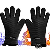 No.1 Set of Silicone Smoker Oven Gloves - Extreme Heat...