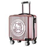 Trolley Roue Universelle Enfant Dessin animé pc 20 Pouces Trolley Roue Universelle , Hello Kitty Rose Gold_20 Pouces