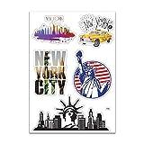 Planche A4 de stickers New York autocollant adhésif – F44