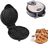 KELITINAus Estación de Comidas de la Mañana Waffle, Parrilla O Sandwich Fabricante, Diseño Compacto, Fabricante de Waffle W, Placas Extraíbles, Recubrimiento Antiadherente
