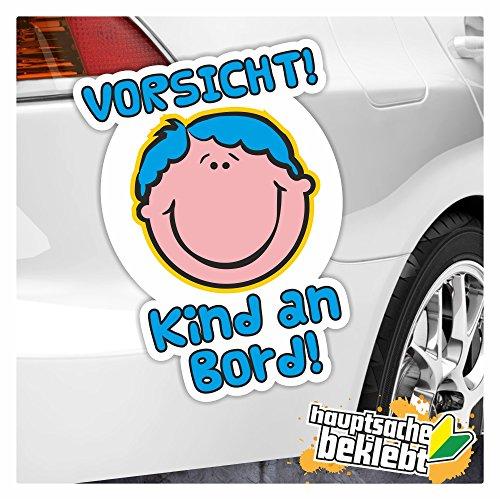 Kiwi Star Vorsicht. Enfant à Bord Autocollant multicolore Stickers fun Sticker Colored 13 x 9 cm