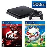 PlayStation 4 + グランツーリスモSPORT + New みんなのGOLF セット (ジェット・ブラック) (CUH-2200AB01)【特典】オリジナルカスタムテーマ(配信)