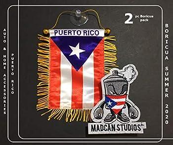 Puerto Rico Style,Boricua Designs,Puerto Rican Mini Automobile Car Vans Trucks SUV Motorcycles Rv Home or auto Mini Puerto Rico Car Flags