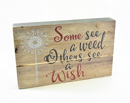 MRC Wood Products Some See A Weed Others See A Wish Pallet Box Sign 7.5 x 12