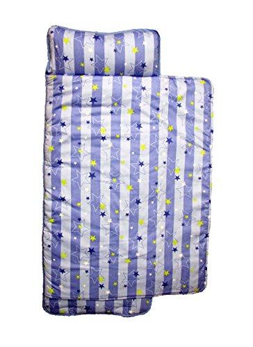 SoHo Toddler Nap Mat Rollable, Blue Stripes