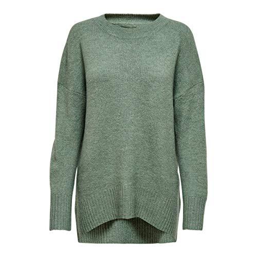 ONLY Damen Strickpullover Nanjing 15173800 Balsam Green Melange M