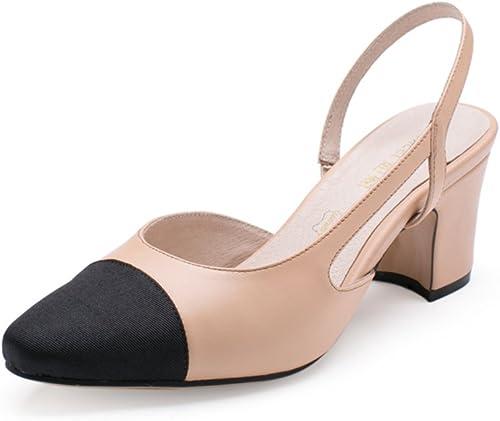 WLJSLLZYQ Chaussures d'été d'été d'été Lumière Talons Rugueux Chaussures Pointues de marée Loisirs cdf