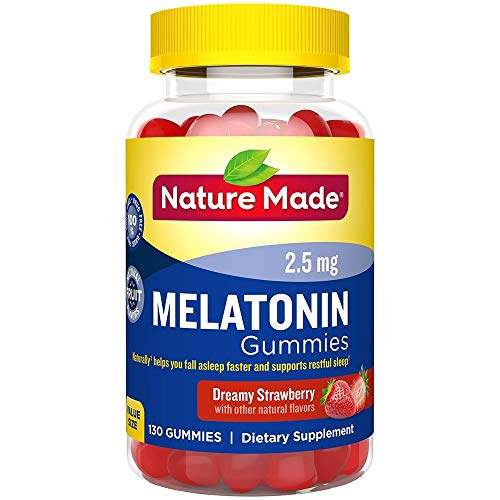 Nature Made Melatonin Adult Gummies, 2.5 Mg (130 Gummies Mega Jar)