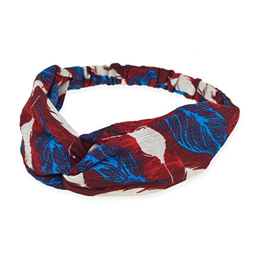 DRESHOW Boho Headbands for Women Vintage Flower Printed Criss Cross Knotted Elastic Hair Band Stretchy Head Wrap Twisted Cute Hair Accessories 10 Pack