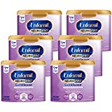 Enfamil NeuroPro Gentlease Baby Formula Gentle Milk Powder Reusable Tub, 19.5 oz.- MFGM, Omega 3 DHA, Probiotics, Iron & Immune Support, 6 count (Package May Vary)
