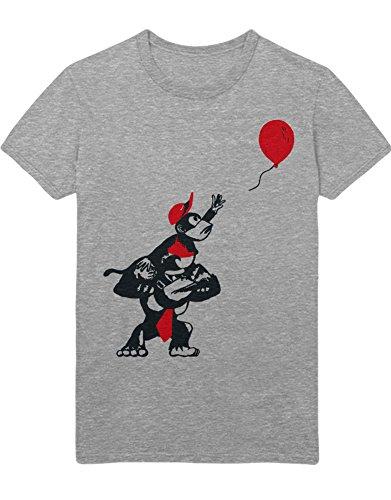 Hypeshirt T-Shirt Donkey Kong and Diddy Kong Balloon H100026 Gris L