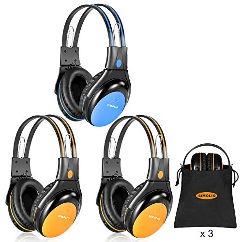 SIMOLIO 3 Pack of Car Wireless Headphones for Kids Safe