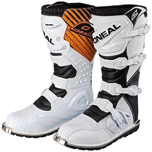 O'Neal Rider Boot MX Stiefel Weiß Moto Cross Enduro Motorrad, 0329-2, Größe 43
