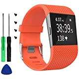 KingAcc for Fitbit Surge Bands, Replacement Band Strap for Fitbit Surge Watch Fitness Tracker Original Wrist Band Accessories Small & Large