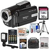 Vivitar DVR-508 HD Digital Video Camera Camcorder (Black) with 32GB Card +...