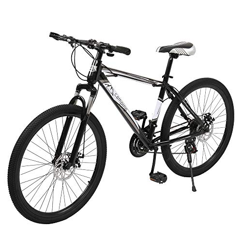 26 inch 21 Speed Adult Mountain Bike, High-Carbon Steel Hard-Tail Mens Mountain Bicycle Sale Womens Bikes Mountain Bike With Full Suspension Adjustable Seat【UK STOCK】