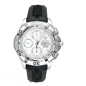 TAG Heuer Men's CAF2011.FT8011 Aquaracer Automatic Chronograph Rubber Strap Watch Review and Online and review image