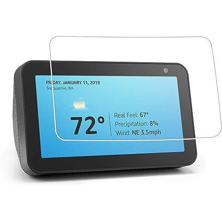 Zshion Echo Show 8, pellicola protettiva per schermo, ultra sottile, durezza 9H, in vetro temperato, antigraffio, senza bolle, trasparente (confezione da 2)
