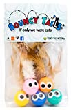 Bouncy Tails 3 Pack Interactive Bouncy Ball with Natural Feathers for...