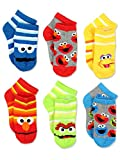 Sesame Street Boys Multi pack Socks (2-4 / Shoe: 4-7, Stripes Quarter 6 pk)