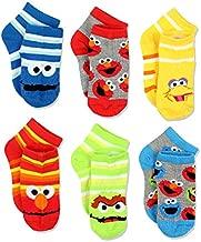 Sesame Street Kids' Little Quarter Length Socks, 6 Pair Pack, Multi, 4-6 Boys (Shoe 7-10)