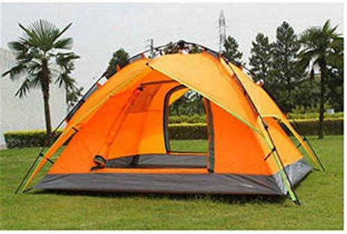 HONEYY 3 Personne Chambre Double Porte à la Pluie Tente de Camping en Plein air 210 * 180 * 135cm,b Technologies Auto