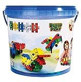 Clics Konstruktionsspielzeug für Kinder ab 3 Jahre, kreatives Lernspielzeug im 160 Teile Set, Bausteine für Mädchen und Jungen, Montessori STEM-Spielzeug, Starterset im Eimer 8 in 1,