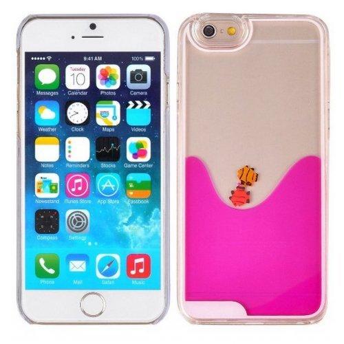 Carcasa para iPhone 6 Plus, diseño de Peces, Color Rosa
