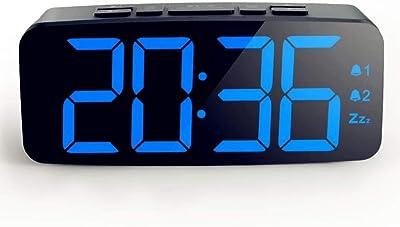 WYFDZBD Despertador Led Dormitorio Mudo con Función De Despertador Luminoso Mesa De Reloj