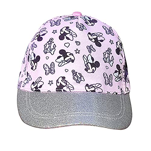 Gorra para niñas Minnie Mouse, con Visera Decorada de Brillantina Fantasia - Ideal para...
