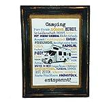 Camping entspannt. Druck Poster A4 Wohnmobil Womo Camper Caravan Geschenk AnneSvea Typo Deko Womo
