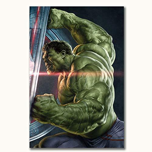 FOCLKEDS Avengers Infinity War Hulk 3D dipinto poster per bagno 50,8 x 71,1 cm per soggiorno camera da letto (non incorniciato)