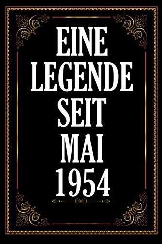 Eine Legende Seit Mai 1954: .A5 120 Seiten platz für 60 Gäste I Gästebuch zum Eintragen der Glückwünsche zum 66. Geburtstag I Geboren Jahrgang 1954 I ... I Zum Selber Eintragen und Fotos einkeben