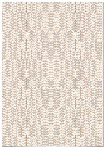 Panorama Papel Adhesivo para Muebles Geometría Hojas 66x100 cm - Impreso en Vinilo Textil - Instalación Fácil, Lavable y...