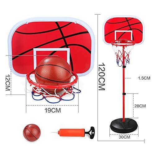 WRJ Basketballständer, Indoor Mit Ständer Für Kinder Metall Backboard Höhenverstellbar Basketballanlage Spielzeug Jungen Und Mädchen,10