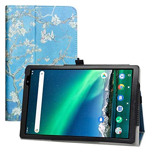 LFDZ TOSCIDO P20 Funda,Soporte Cuero con Slim PU Funda Caso Case para TOSCIDO P20 / LNMBBS P30 10 Inch Tablet(Not fit Other Models),Almond Blossom