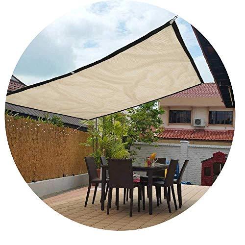 PLEASUR Party Zonnebrandcrème Luifel 90% Shading Sail Rechthoek Zonnebrandcrème Mesh Window Awning Sunshade Net Garden Yard Anti-Shade Doek (Kleur: Beige, Maat : 1X3m)