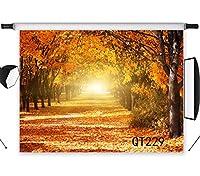 LB 2.1×1.5m 金色の秋 写真撮影用 背景布 写真館 森 自然風景 木と日光 バックペーパー 人物撮影 布バック 背景紙 撮影スタジオ用 パーティー ポリエステル生地 洗濯可能