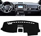 SHINEHOME Dashboard Cover Mat Carpet Compatible with 2015-2020 Ford F150 - Dash Board Cover Protector Sunshield Cover