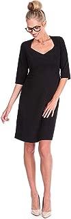 Womens Business A-line Ponte Workwear Dress Maternity
