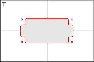 Pickup Routing Template- Humbucker Top Route