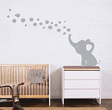 MAFENT eine schöne elefanten blasen machen wall aufkleber vinyl wandsticker für mafent baby kindergärten und kinder platz mauer aufkleber. beenden, größe: 51