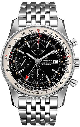 Breitling Navitimer GMT Black Dial Men's Watch A24322121B2A1