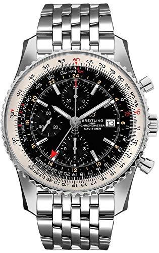 Breitling Navitimer GMT Black Dial Men's Watch A24322121B2A1