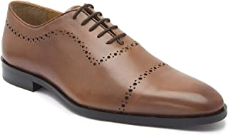 HATS OFF ACCESSORIES Genuine Leather Tan Wholecut Oxford Shoes