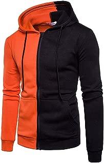 Mens Slim Fit Long Sleeve Thermal Faux Fur Zip-up Hoodie with Kanga Pocket