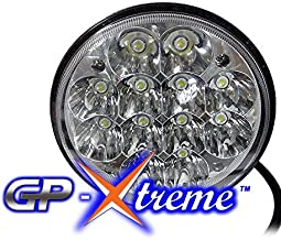 "GP XTREME H651 / H466 H4001 4040 5506 H5006 45 Watts LED Chrome Sealed LED Hi/Low Beam Headlights Lamps 1 pcs (LED ROUND 5.75"") Harley Motorcycle Jeep"