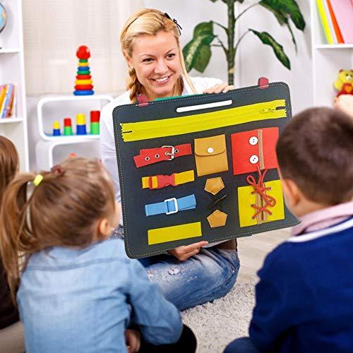 Juguete Portátil Baby Busy Board, Para Niños Pequeños Que Aprenden Habilidades, Tablero De Aprendizaje Con Cremalleras, Botones, Hebillas, Trenzas Adecuado Para Niños Pequeños De 1 2 3 4 Años