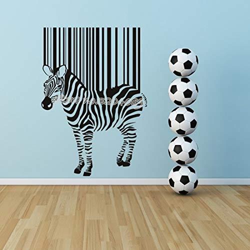 Zebra Barcode Wandaufkleber Afrikanische Tiere pferd Vinyl Aufkleber Lustige Wohnkultur Für wohnzimmer Kind schlafzimmer kindergarten wandbild 56 * 78 CM